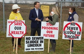 MPP Tim Hudak Joins Lincoln Residents in Opposition to Bio-Solid Facility