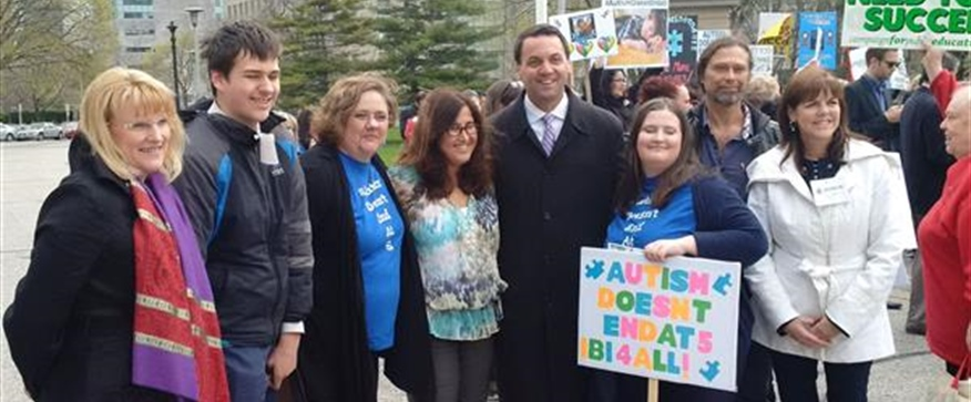 MPP Tim Hudak Stands With Families Affected by Autism